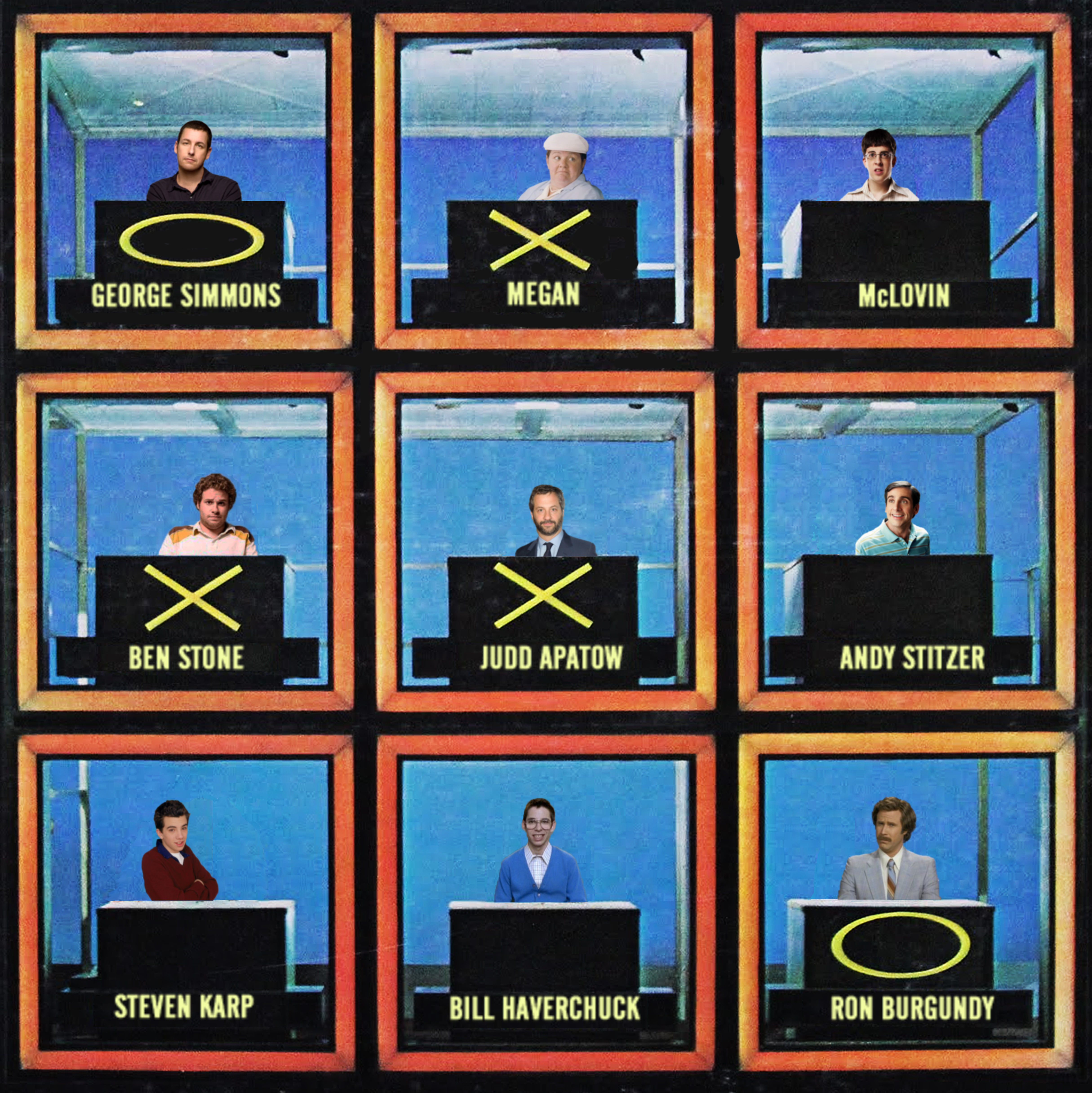 Hollywood Squares Triviazoids