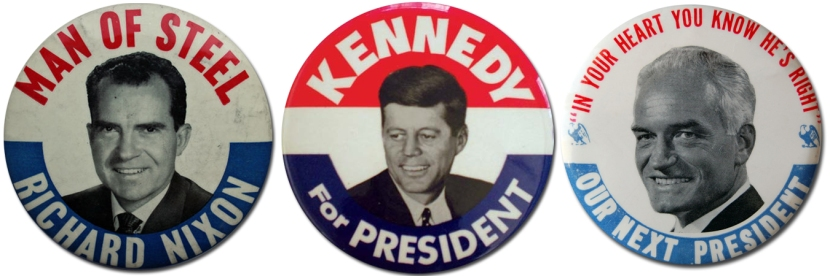 Nixon Kennedy Goldwater Buttons
