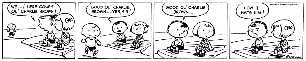 What was the first comic strip