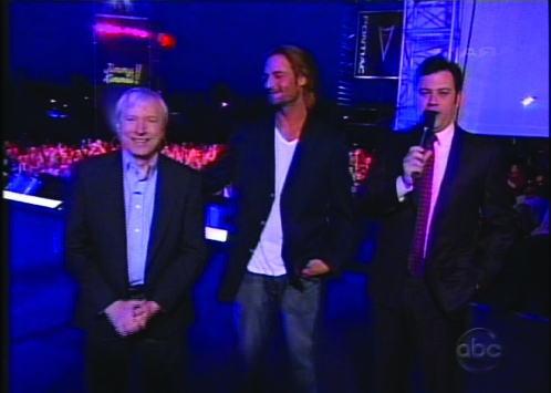 "Triviazoids creator Brad Williams with Josh Holloway on ""Jimmy Kimmel Live"""